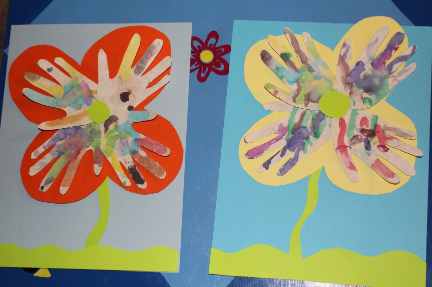 Spring Craft: Watercolor Handprint Flowers