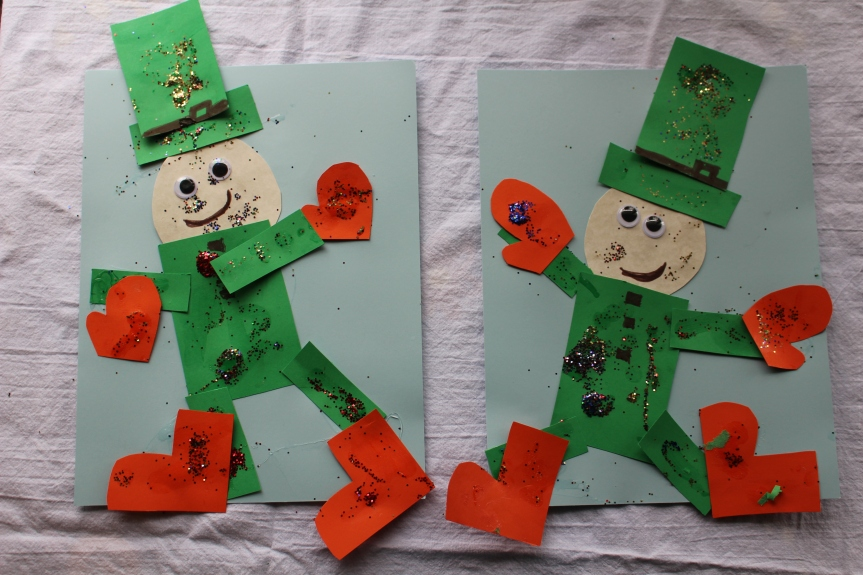 St. Patrick's Day Craft: Glittery Leprechauns!