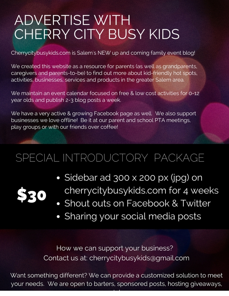 Advertise with Cherrycitybusykids.com