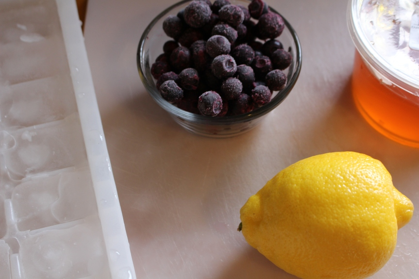 Beat the Heat: Honey Lemon Blueberry Slushies