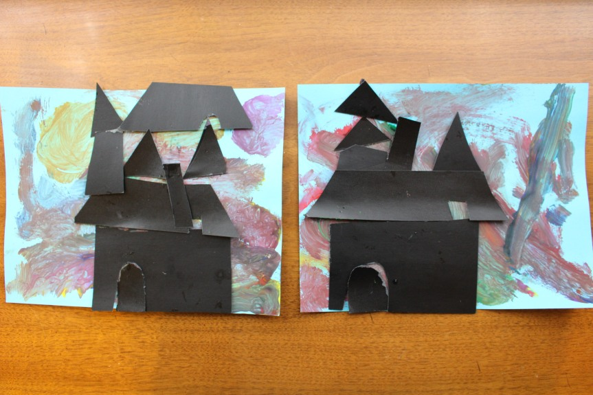 Halloween Craft: Spooky Haunted House Silhouettes